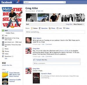 Greg Kihn Facebook Page