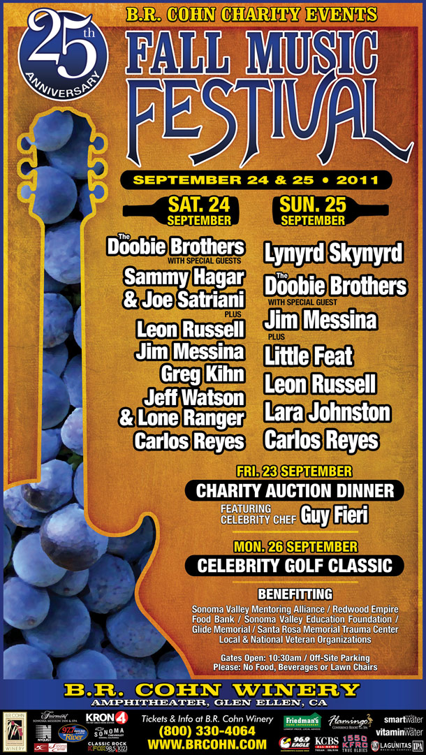 Greg Kihn to Perform at the 25th Annual B. R. Cohn Charity Fall Music Festival