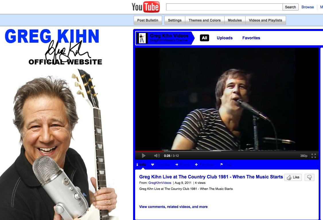 Greg Kihn YouTube Channel