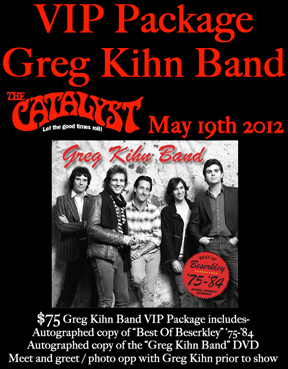 Greg Kihn VIP Meet and Greet Package