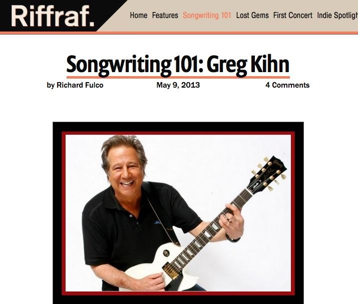 Songwriting 101: Greg Kihn – Riffraf.net