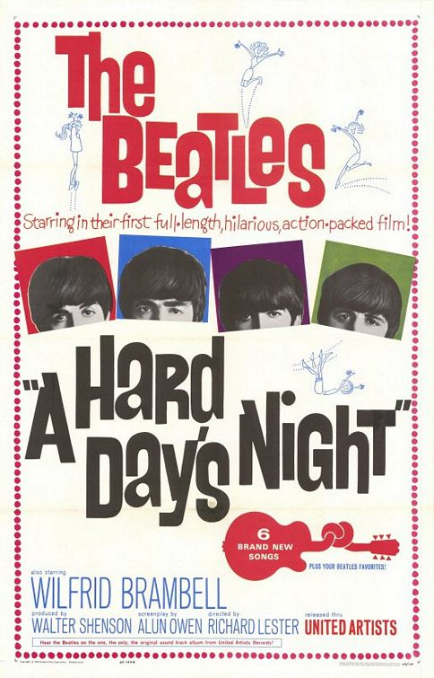 The Beatles classic 1964 movie debut A HARD DAY'S NIGHT is being re-released!